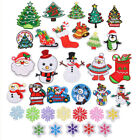 2× Christmas tree Badge Embroidered Iron on Patch Snowman Emblems Xmas Snowflake $1.86 USD on eBay
