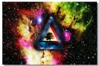 Poster Psychedelic Trippy Colorful Ttrippy Surreal Abstract Digital Art Print 46