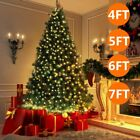 5 6 7 feet tall pre lit lights christmas tree holiday season indoor outdoor tree