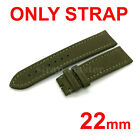 22mm Canvas Leather Band Strap for Breitling Watch Navitimer Avenger 20mm Buckle