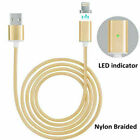 US Heavy Duty Braided Long USB Charger Data Charging Cable Cord For iPhone iPad