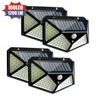 100 LED Solar Power PIR Motion Sensor Wall Lights Outdoor Garden Security Lamps