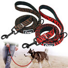 Nylon Dog Lead Soft Padded 120cm Large Dogs Training Lead & D-ring Brown Red