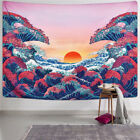 Ocean Wave Sunset Living Room Tapestry Wall Hanging Bedspread Throw Wall Decor