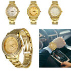HOT Men's Gold Watch Diamond Dial Fashion Gold Steel Quartz Wrist Watches Fast image
