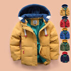 Boys Coat Parka Winter Hooded Jacket Padded Warm Quilted Puffa Trench Outwear