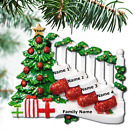 Bannister with Stockings Family Ornaments Personalized Christmas Ornament Family