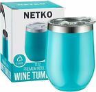 Cupture 12oz Stainless Steel Wine Glasses Vacuum Insulated Tumbler with Lid