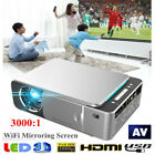 Portable HD T6 WiFi Mirroring Screen Silver LED Projector 1080P 5000lm JS
