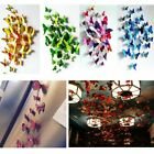 12x 3d Diy Butterfly Wall Stickers Pvc Art Decal Room Decoration Home Decor Kids