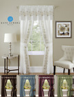Complete 5 Pc Window in a Bag Floral Sheer Curtain Set - Assorted Colors & Sizes