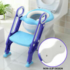 Kyпить Kid Trainer Toilet Potty Training Seat Baby Toddler Chair Padded Step Up Ladder на еВаy.соm