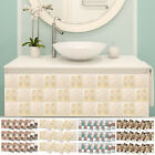18pcs Mosaic Self-adhesive Bathroom Kitchen Decor Home 3d Tile Wall Sticker New