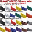 30 28 26 24 22 20 18 16 14 12 awg Silicone Cable 6 colors Mix Stranded Wire Kits