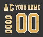 Boston Bruins Customized Number Kit for  2019-Present 3rd Jersey $34.99 USD on eBay