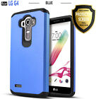 For LG G4 Case, Dual Layer Shockproof Cover +Tempered Glass Screen Protector