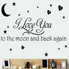 Removable Word Art Vinyl Wall Stickers Quote Mural Home Kitchen Decal Room Decor