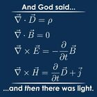 And God Said ...And Then There Was Light (Maxwell's equations)  HOD Funny T-s...