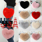 US Women Heart-shaped Bag Plush Love Shoulder Hairy Bag Valentine Day Gift image