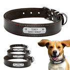Personalised Genuine Leather Dog Collar for Big Large Dogs Brown ID Name Collars
