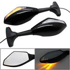 Motorcycle Rearview Mirrors LED Turn Signals Lights for Hyosung GT125R GT250R