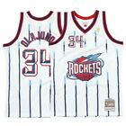 1996-97 Houston Rockets # 34 Olajuwon Mitchell & Ness NBA White Swingman Jersey on eBay