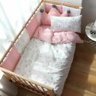 Baby Bedding Set For Newborns Soft Cotton Crib With Bumper Bed Linen For Baby