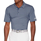 New Adidas Ultimate 365 Striped Golf Polo Shirt Blue White DH6832 Men's LG $65
