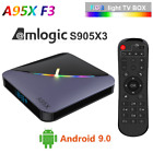 A95X F3 AIR Smart TV Box Android 9.0 8K 75fps S905X3 4+64GB Media Player 16+32GB