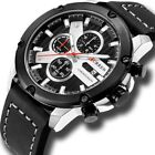 Relojes De Hombre Men's Watch CURREN Casual Sport  Military Leather Wristwatch image
