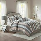 Luxury 4pc Reversible Grey & Pink Faux Fur Comforter Set AND Decorative Pillow image