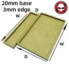 Gaming Base wargame Movement Tray 20mm bases with 3mm edge