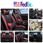 Universal 5-Seats Full Set Car SUV Seat Cover+Pillows Full Surrounded PU Leather $69.95 USD on eBay