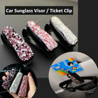 Shiny Crystal Car Auto Sun Visor Glasses Sunglasses Card Ticket Holder Clip