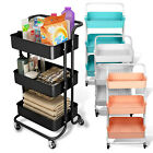 Space Save Storage Trolley 3 Tiers Metal Rolling Utility Kitchen Cart SPACE SAVE