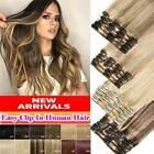 Kyпить CLEARANCE Clip In 100% Real Remy Human Hair Extensions 8pcs Full Head Highlight  на еВаy.соm