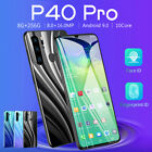 """P40 Pro 6.3inch Unlocked Smart Phone 6.3"""" 8g+256g Android 9.1 Dual Sim Mobile Au"""