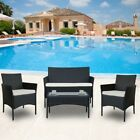 4pcs/set Outdoor Rattan Wicker Furniture With Cushion Garden Patio Poolside New