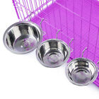 Hang-on Bowl Stainless Steel For Pet Dog Cat Crate Cage Food Water Bowl Feeder