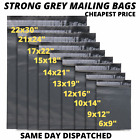 Strong Grey Mailing Post Mail Postal Bags Poly Postage Self Seal All Sizes