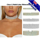 Vintage Thick Colorful And Clear Crystal Velvet Collar Choker Fashion Necklace