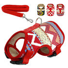 Soft Pet Dog Harness and Leash Mesh Padded Small Puppy Cat Walking Vest Yorkie