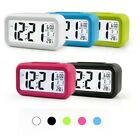 LCD Digital Clock Battery Operated Travel Portable Snooze Electronic Alarm Clock
