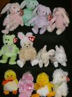 Ty Beanie Babies Easter Themed Bears, Bunnies, Ducks, Chicks and Lambs New