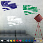Distressed American Flag Wall Art Decal Sticker Usa Boy Girl Room House Decor V1