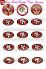 """San Francisco 49ers team an logos 15-150 1"""" Bottle Cap Images  for jewelry etc $15.99 USD on eBay"""