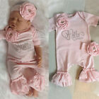 Kyпить US Newborn Baby Girl Flower Romper Ruffle Jumpsuit + Headband Outfit Clothes Set на еВаy.соm