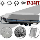 17-24ft Heavy Duty Trailerable Boat Marine Cover Pontoon UV Proector Waterproof