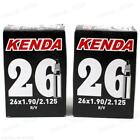 Two (2) Pack Kenda 26 x 1.9 - 2.125 32mm Presta Valve RVC Bicycle Inner Tubes
