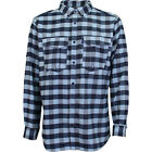 AFTCO Buffalo Bill Tech Flannel LS Shirt Fish Midnight Blue Men's NWT M,L (504)